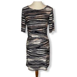 Connected Apparel Black & Tan Layered Dress Sz 10